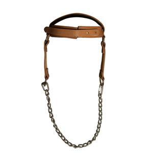 Leather Head Harness with Chain
