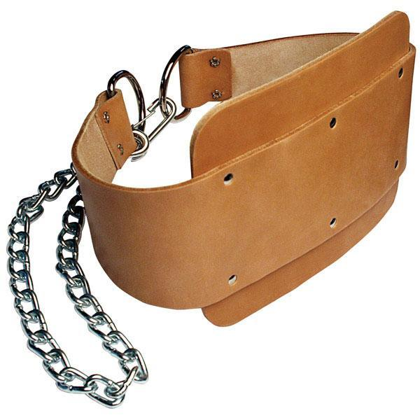 Leather Dipping Belt with Chain