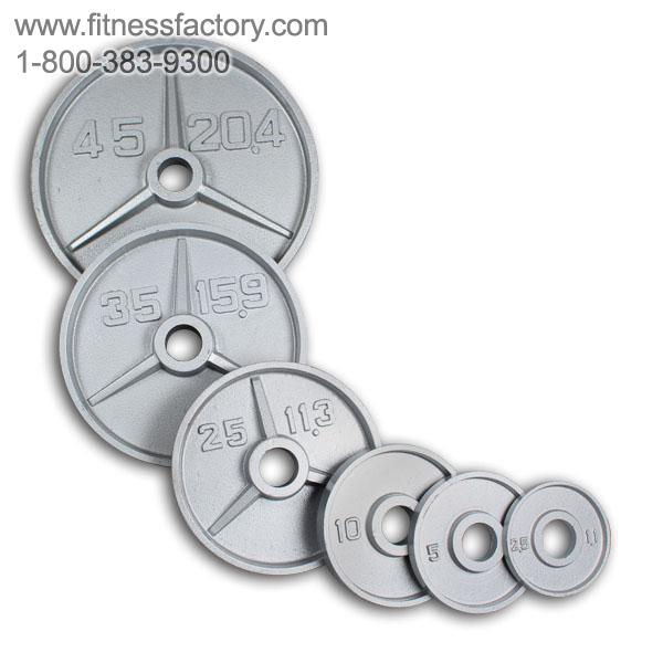 Olympic Deep Dish Weight Plate Sets With Bar