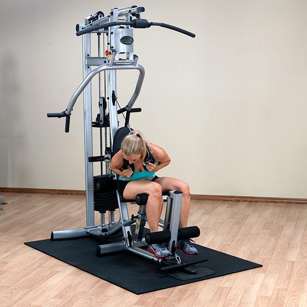 P home gym with leg press