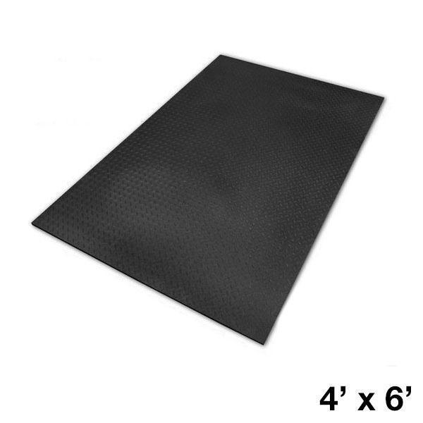 Rubber Floor Mat >> 4x6 Foot High Density Rubber Floor Mat 3 8 Inch Thick