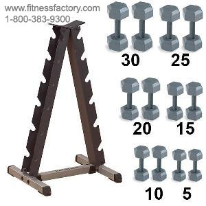 SDX530SET : Dumbbell and Rack Package