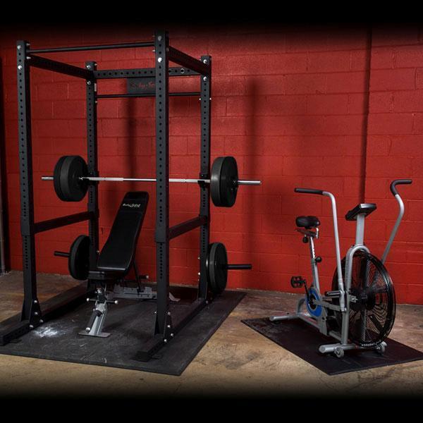 Premium garage gym package with sfid bench