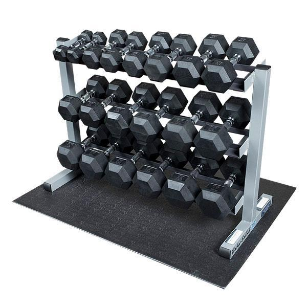 Rubber Dumbbell Set: Body-Solid 5-50 Rubber Dumbbell Package